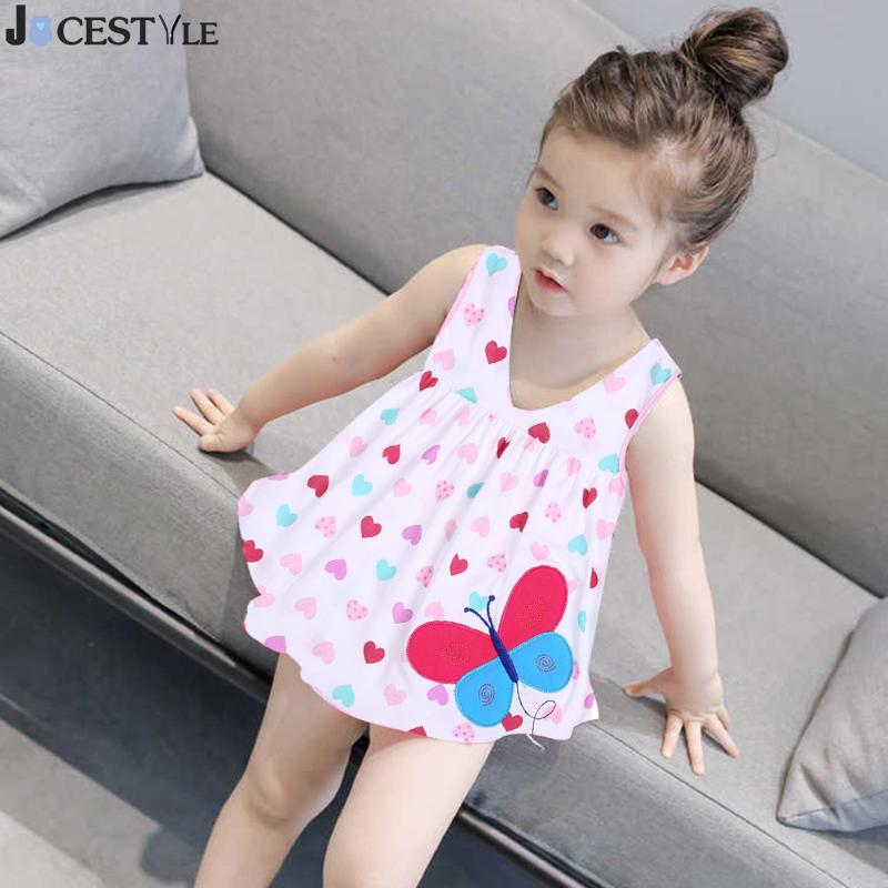 Casual Summer Baby Girl Dress Embroidery Cotton Sleeveless Party Princess Vest Dress Children Clothing Beachwear Vestidos 0-2Y summer baby girl s dress cloth cherry blossom korean version sleeveless vest dress princess bow tie vestido