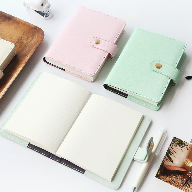 MaoTu Cute PU Leather Notebook Pocket A6 Weekly Planner Daily Planner Journal Notepad Office School Supplies joudoo vintage classic galaxy night sky printed note book for kids daily week planner notebook school office supplies notepad