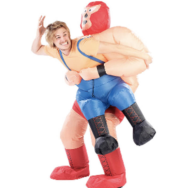 New Inflatable Wrestler Costume Halloween Costumes For Adult Party Costume For Men Wrestling Inflatable Costume Kits Carnival