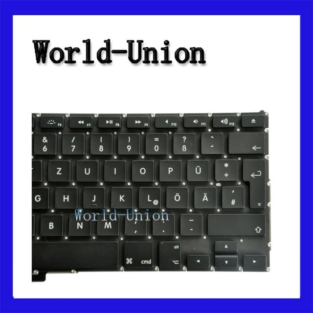 "2pcs/lot Hot selling New Original Keyboard for 17"" MacBook Pro Unibody A1297 German layout,100%working & wholesale price!"