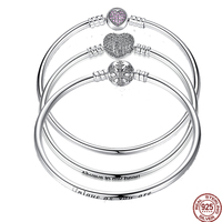 WOSTU Authentic 925 Sterling Silver Engrave Snowflake Clasp Unique As You Are Chain Bracelet Bangle Fit