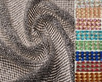 ZY DIY Chuny Glitter 45x120cm 9 Colors SILVER Full Rhienstone Metal Mesh Fabric Metallic Cloth Metal