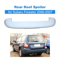 ABS unpainted auto car rear trunk spoiler boot lip with LED light for Subaru Forester 2006 2007