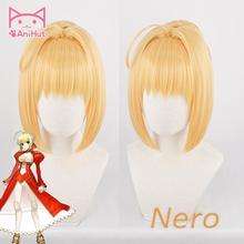 【AniHut】Fate/EXTRA Nero 가발 Fate Grand Order 코스프레 가발 합성 금발 내열성 머리카락 Fate Stay Night Cosplay Hair