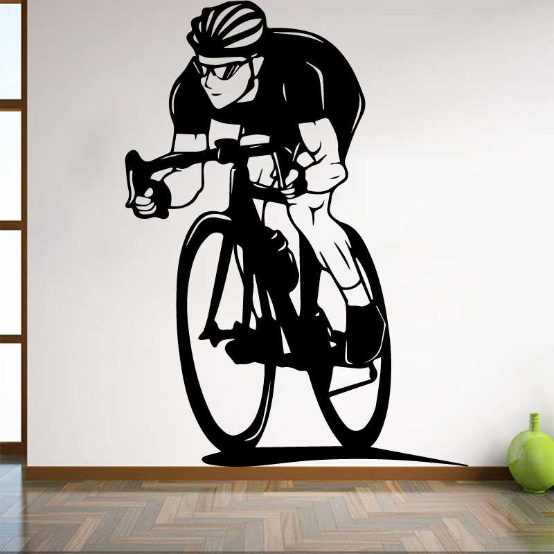 Bicycle Wall Sticker for Boy Bedroom Decoration Cycling Home for living Room Interior Art Decor Dorm Studio Club Art Mural