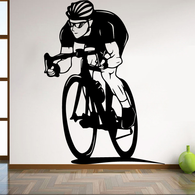 bicycle wall sticker for boy bedroom decoration cycling home for