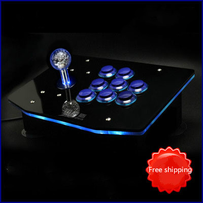 цена на No delay Computer Arcade joystick rocker USB joystick handle of the game machine accessories to send 97 people