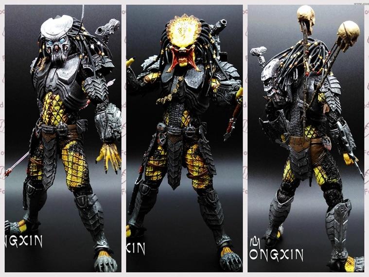 "3pcs/<font><b>lot</b></font> <font><b>NECA</b></font> <font><b>Predator</b></font> <font><b>Classic</b></font> <font><b>Predator</b></font> 25th <font><b>Anniversary</b></font> Jungle Hunter Action Figure Collectible Model Toy 8"" 20CM"