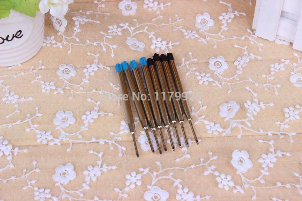 6PCS/Lot Ballpoint pen G2 Refills 9.9CM Blue/Black ink