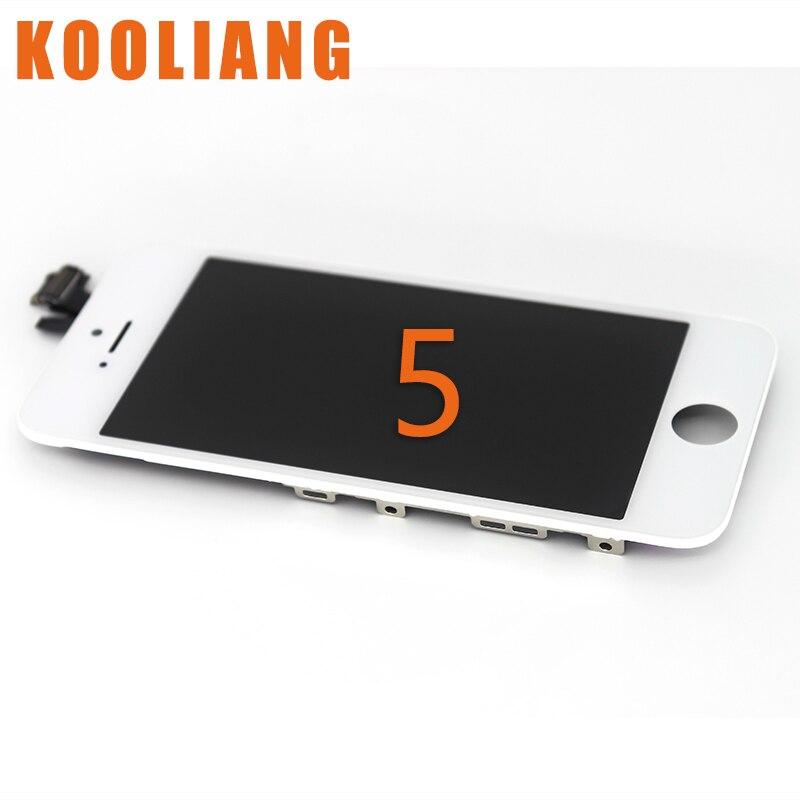 imágenes para 2 unids de Buena Calidad Para el iphone 5 Pantalla LCD Con Pantalla Táctil Digitalizador Asamblea Reemplazo Envío Gratis Blanco Negro