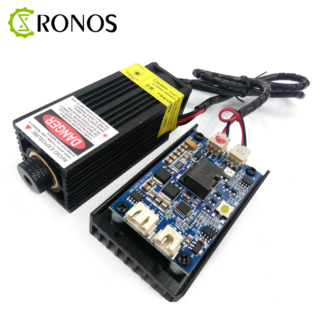 High Power 450nm 5500mW 12V TTL Adjustable Focus Blue Laser Module DIY Laser Engraver Accessories 5.5W Laser Head tgleiser 450nm 5 5w 12v laser module diy cnc engraver wood cutting machine blue 5500mw power supply knob dimming laser diode