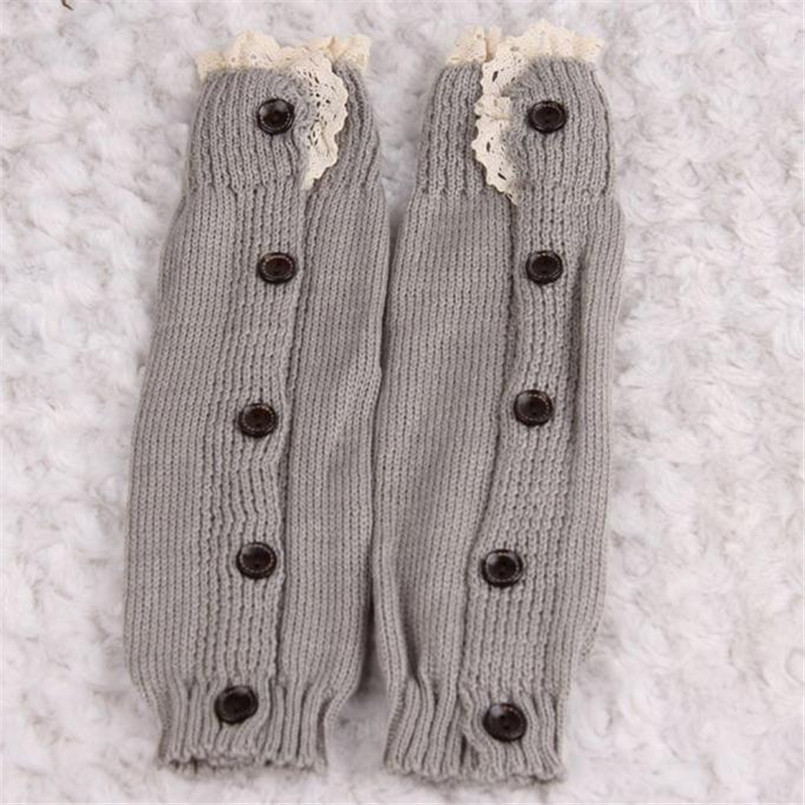 2018 Hot Sale baby knee pads Kids Girl Crochet Knitted Lace Boot Cuffs Toppers Leg Warmer Socks kniebeschermers baby piernera S ...