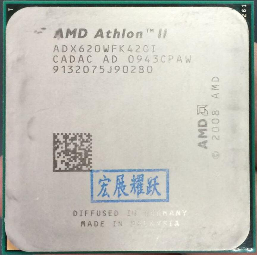 AMD Athlon II X4 620   X620   Quad-Core AM3 938 CPU 100% Working Properly Desktop Processor