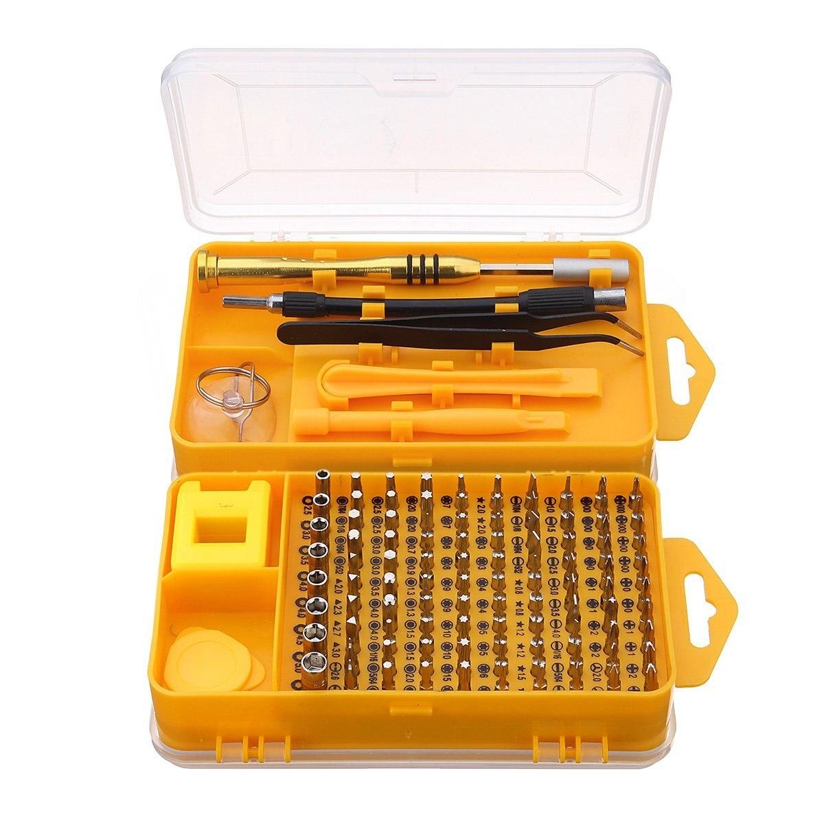 цена на 108 In 1 Screwdriver Sets Multi-function Computer Repair Tools Essential Tool DIY Digital Mobile Phone Repair Bit Set