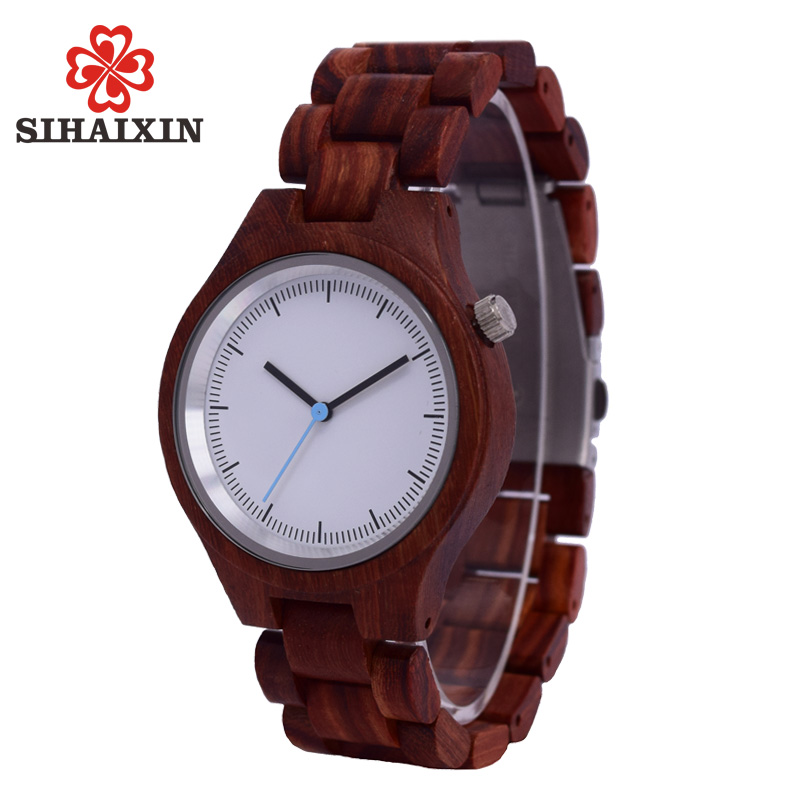 SIHAIXIN Clock Man Wood Watch Luxury Brand Quartz Wristwatch With Wooden Band Watches Creative Gift for Men Women Reloj de mader sihaixin bamboo wood casual watches women wooden clock for men genuine leather band luxury fashion quartz wristwatch male dress