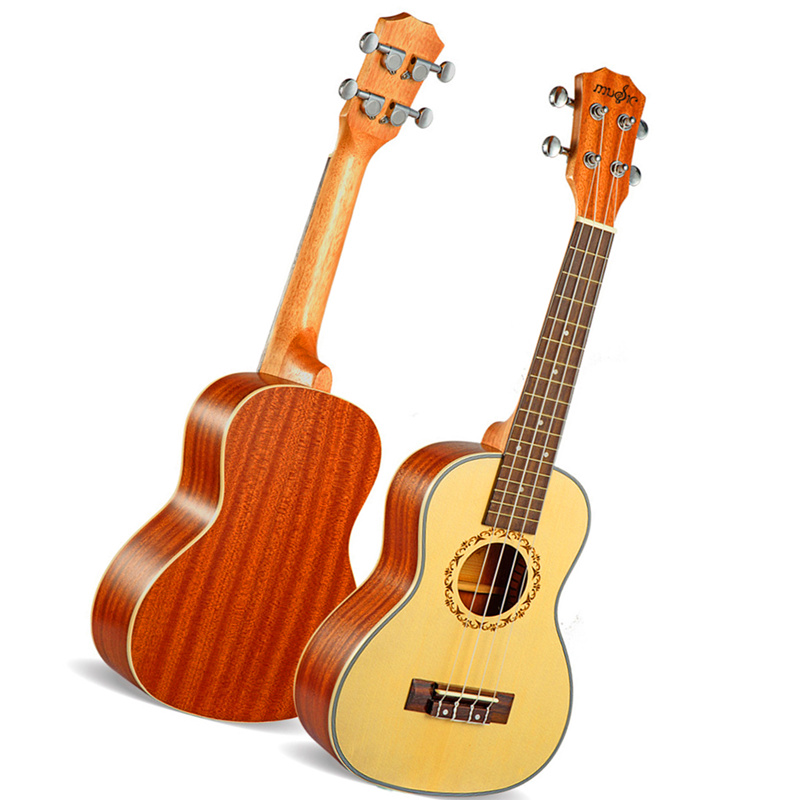 23 inch Ukulele Concert Hawaiian 4 Strings guitar Acoustic Electric Mini Guitar Ingman spruce panel Ukelele With pickup EQ soprano concert acoustic electric ukulele 21 23 inch guitar 4 strings ukelele guitarra handcraft guitarist mahogany plug in uke