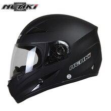 NENKI Motociclo Casco Nero Moto Pieno Viso Retro Scooter Caschi Moto Casco Casco di Guida Degli Uomini di Motocross Casco Casco Moto