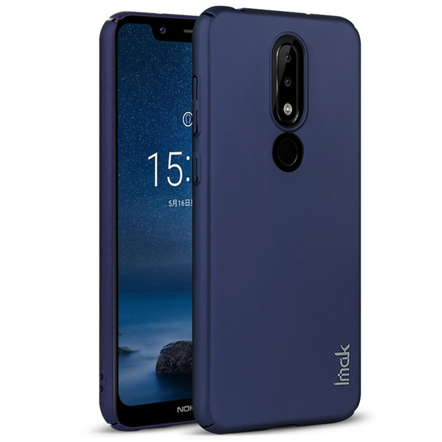 newest collection 4352a 08329 US $4.49 10% OFF|Case For Nokia 6.1 Plus /Nokia X6 IMAK Jazz Slim Skin  Tactility Hard PC Back Cover Nokia X6 Case Gift Screen Protector-in Fitted  ...