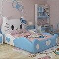 2017 Новый дизайн modren дизайн hello kitty розовая кожаная детская спальня для девочек
