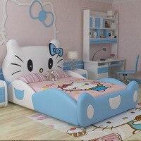2020 new design modren design hello kitty pink leather children bedroom for girls