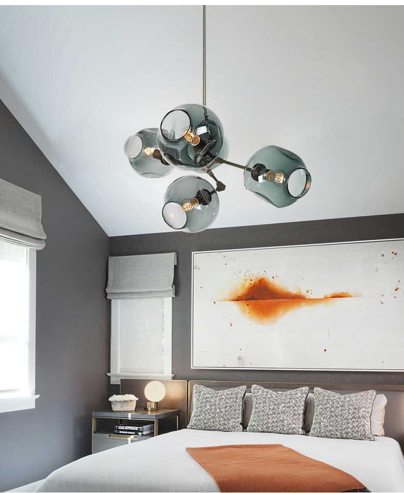 Современный стеклянный подвесной светильник в скандинавском стиле для столовой, кухонный светильник, дизайнерские подвесные лампы, подвесной светильник