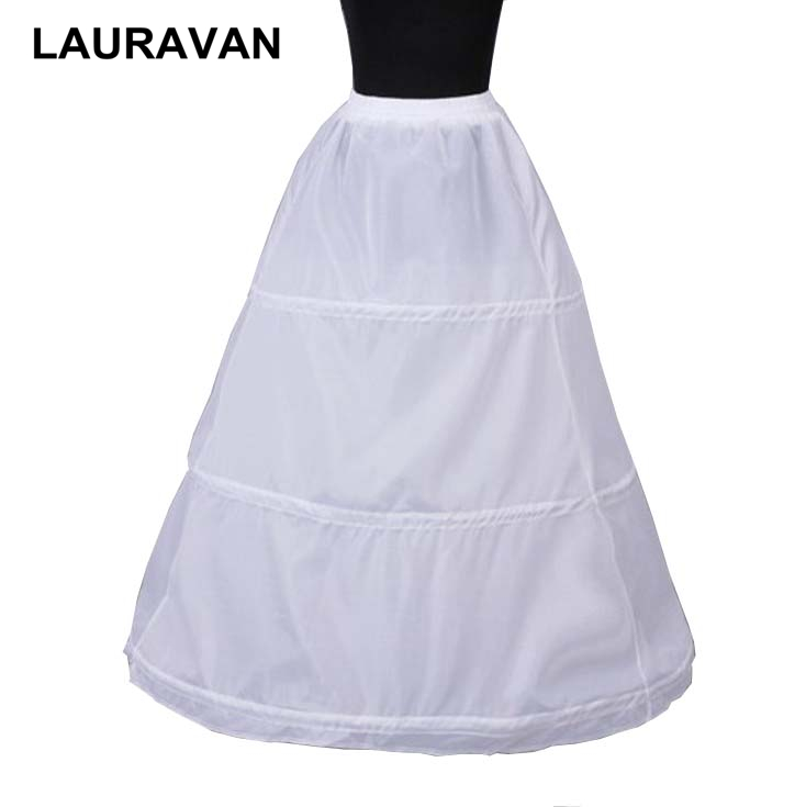 White Black 3 Hoops Petticoats For Bride Women Wedding Dress Wedding Accessories Crinoline Cheap Underskirt For Ball Gown 2019