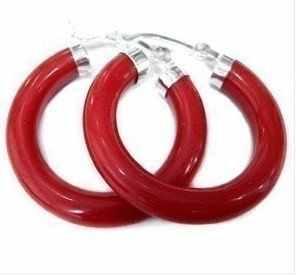 ร้อนขายใหม่-สวยทิเบตสีเงินสีแดงต่างหู