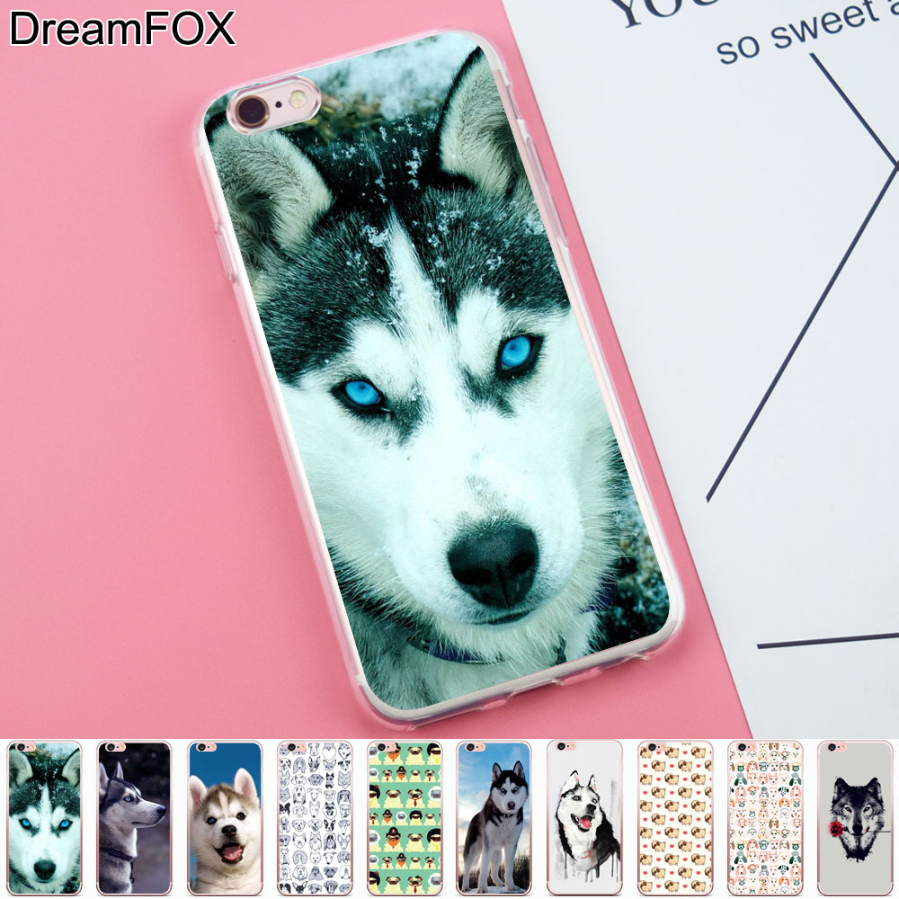 DREAMFOX K198 Sled Dogs Soft TPU Silicone Case Cover For Apple iPhone 8 X 7 6 6S Plus 5  ...