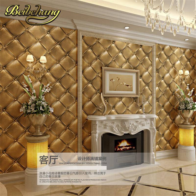 beibehang 3D stereo imitation flex pack PVC wallpaper living room bedroom  aisle Hotel TV background wall Papel de parede-in Wallpapers from Home  Improvement ...