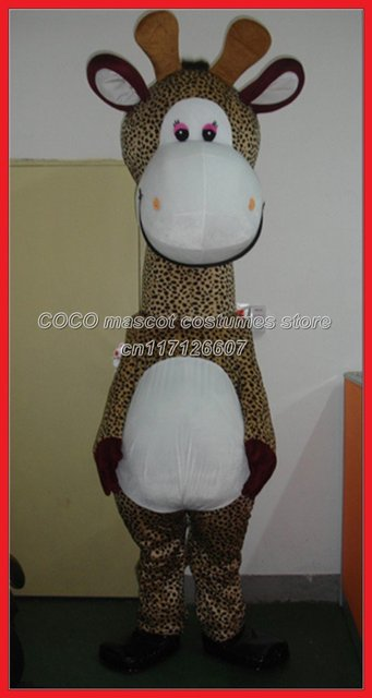 Promotion! Newest Version Light  Giraffe Mascot Costume lovely giraffe Cartoon Mascot Character Costume Free Shipping