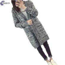 TNLNZHYN Women clothing cardigan sweater coat 2017 New winter fashion big size leisure hooded long female sweater coat TT626