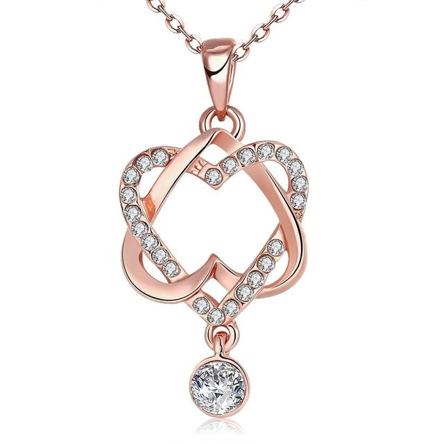 nuovo di zecca 5f6da 3e877 Bohemian Rhinestone Heart Necklace Choker Female Fashion Jewelry Necklaces  Pendants For Lovers Collane Donna Lunghe AKN030 5-in Pendant Necklaces from  ...