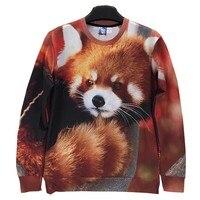 Men Women 3d Sweatshirts Printed Funny Animals Red Panda Casual Hoodies Hoody Men Tops Fashion W147