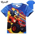 New Boy Blaze Machines T Shirt 100% Cotton Short-sleeved T-shirt Printing Children Cartoon Kids Boys Kids Clothes Free Shipping