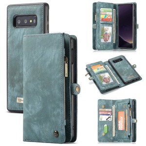Image 1 - Wallet Case Voor Samsung Galaxy S10 Rits Magnetische Telefoon Case Folio Flip Cover Voor Samsung A51 S20 Plus A50 A70 a80 S9 S8 Note 9