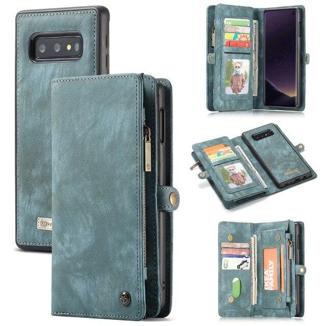 Étui portefeuille pour Samsung Galaxy S10 fermeture éclair magnétique étui de téléphone Folio housse à rabat pour Samsung A51 S20 Plus A50 A70 A80 S9 S8 Note 9