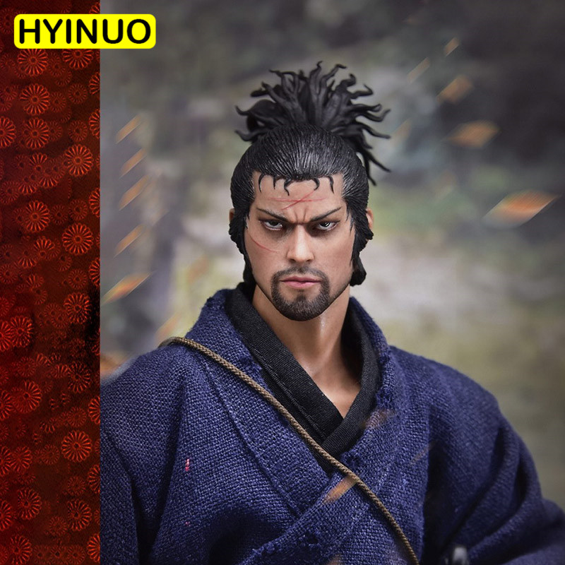 1/6 Scale WOLFKING WK89015A Miyamoto Musashi 2.0 Suit Action Figure Set Sculpt Model 12' Full Set Action Figure <font><b>Body</b></font> Dolls Toys image