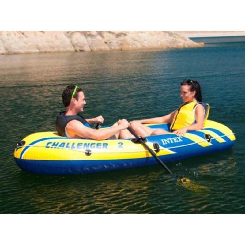INTEX Challenger 1/2/3 personne bateau gonflable épaissi bateau de pêche bateau d'assaut en caoutchouc boatBarco de asalto de barco de pesca