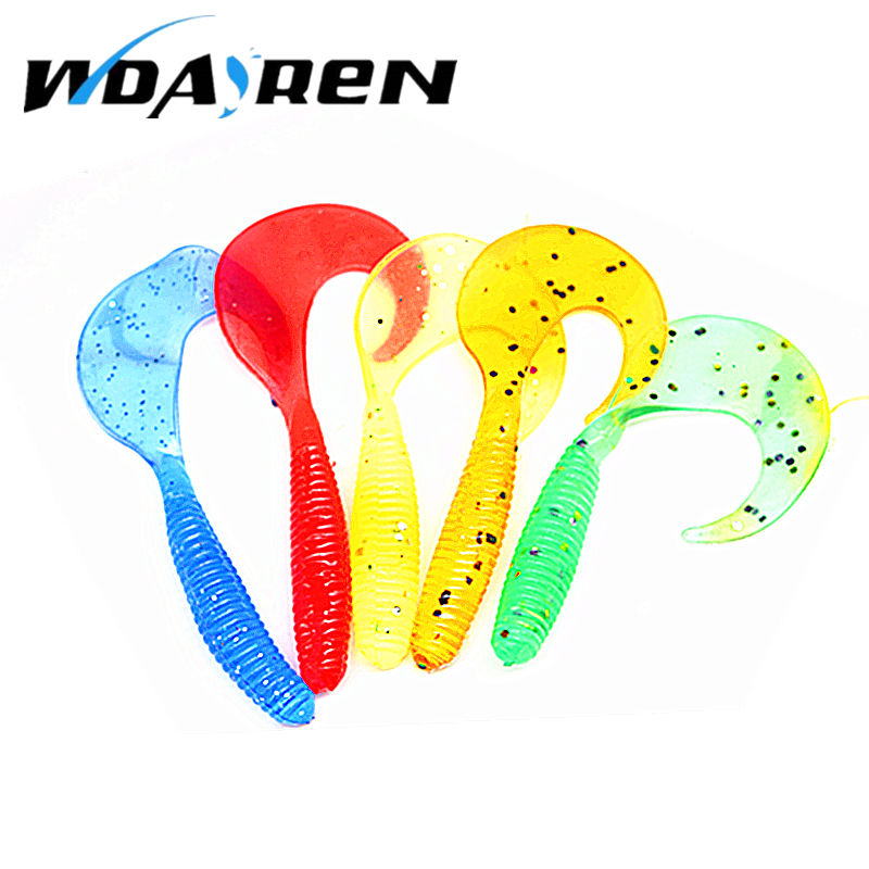 10 Pcs/Lot Lures Soft Bait 60mm 2g silicone bait Worms fishing lure with salt smell Fishing Takcle Grub Artificial Lures FA-249 100pcs lot artificial fishing lure bionic fish soft bait fishy smell pesca fishing tackle lures 7cm 2 3g fishing bait