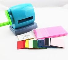 Set von diy scrapbooking schneidemaschine mit drücken pad/schmetterling modell/farbe papier kids handmade gestanzt handwerk kunstwerk werkzeuge