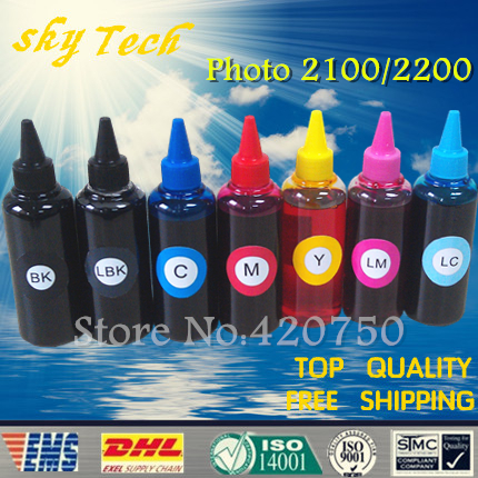 Dye refill ink suit for Epson T0341 T0347 7colors ink replacement ink suit for Epson Stylus