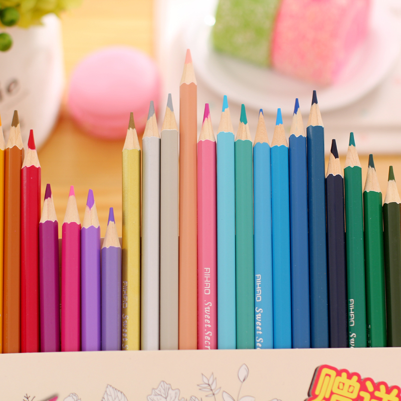 Aliexpress Buy HOT Secret Garden Coloring Books Dedicated Color Pencil Lapices De Colores Cor Painting Graffiti Colored Lapis Escolar From