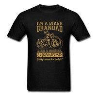 Summer Biker Grandad T Shirt Funny Motorbike Father S Day Birthday Christmas Gift Cotton TShirt Top