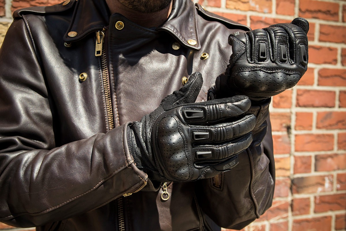 Motorcycle gloves nyc - Bomber Full Leather Short Design Motorcycle Gloves Running Gloves Cycling Gloves Off Road