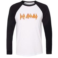 Def Leppard Hard Rock Band Unisex Raglan Long Sleeve T Shirt Men Women Boy Girl Fashion Hip Hop T-shirt Cotton Patchwork Tops