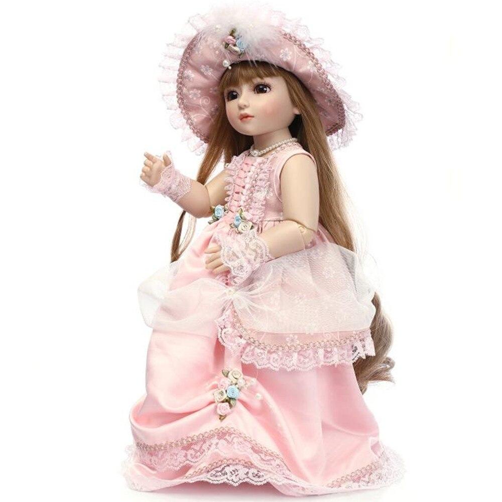 18 дюймовые куклы для девочек, ручная работа, BJD кукла, Детская живая кукла для девочек, 45 см куклы принцессы игрушки для девочек, подарки на де