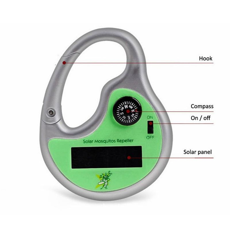 Pet Outdoor Travel Supplies Solar Ultrasonic Mosquito Repellent Mosquito Device Catching Killer Night Fishing Outside