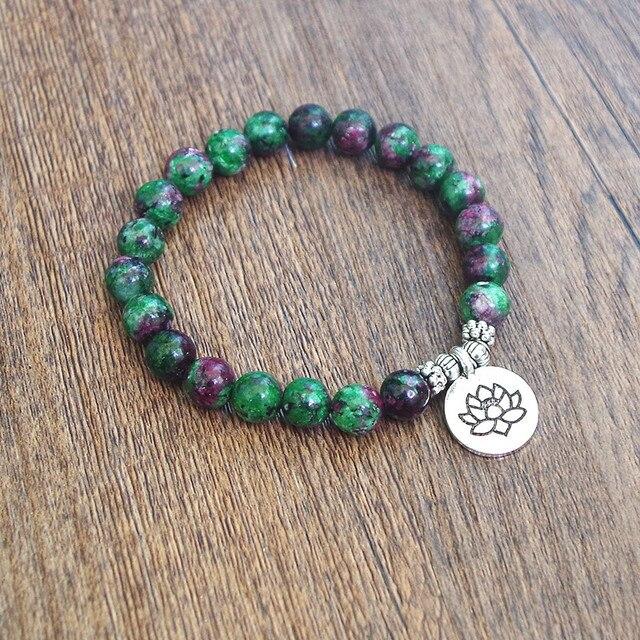 Bracelet Chakra Homme Tibétain en perles de pierre naturelle