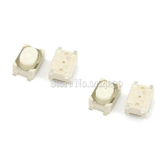 100PCS SMT 3.2X4.2X2.5MM 3*4*2.5mm 4 Pin Tactile Tact Push Button Micro Switch Momentary 50pcs micro push button 3x4x2 5 4feet u type smt tact button switch mounting for car system cigarette tool