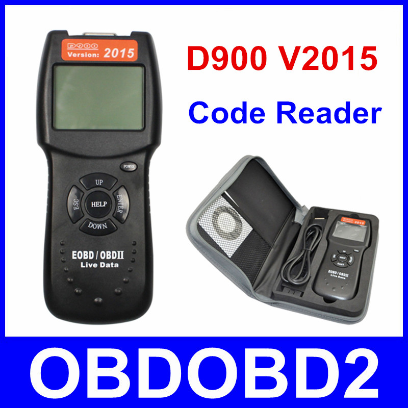 Universal V2015 D900 Code Reader OBDII EOBD Scanner 2015 Latest CAN-BUS Live Data DTC OBD Check Engine Multi-Brand Cars 704201 000 [ data bus components dk 621 0438 3s]